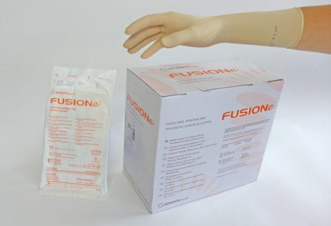 guante estéril de cirugía sintético fusione