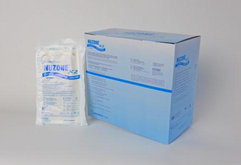 guante sintético estéril sin polvo