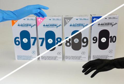 guantes de nitrilo extrafuertes aachenfortis