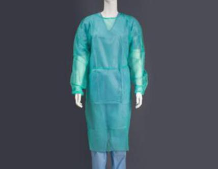 Bata hospitalaria desechable cierre cintas