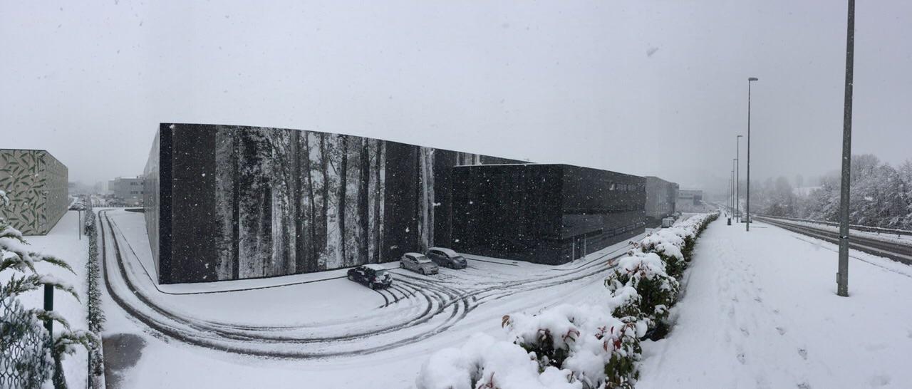 instalaciones CV Protection con nieve