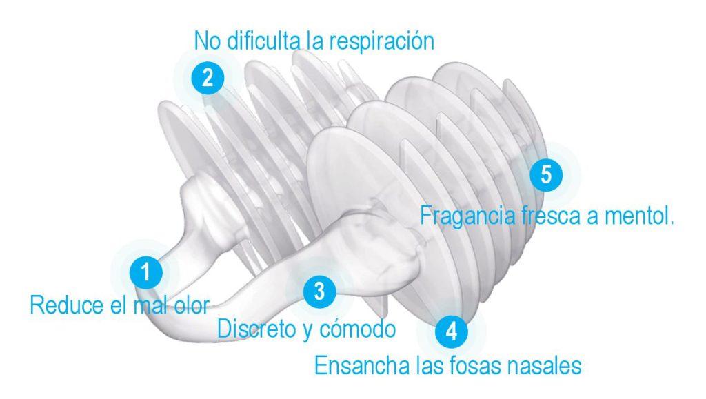 tapón nasal evitar malos olores
