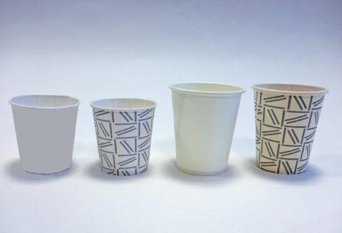 vasos desechables cartón reciclables
