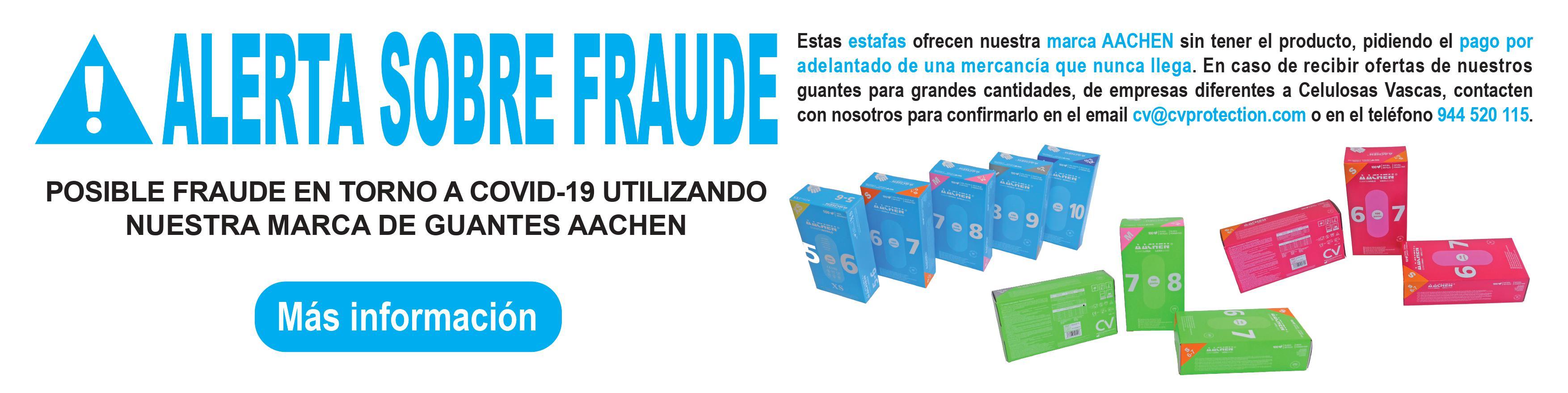alerta sobre posible fraude utilizando marca guantes aachen